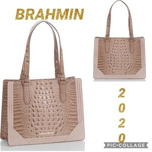 NWT Croc 🐊-Embossed Leather Bag by BRAHMIN